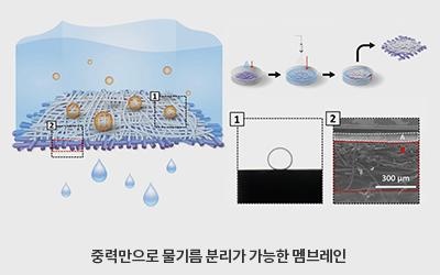 기계 임근배 교수팀, 1초 만에 '기름만 쏙쏙' 걷어내는 첨단 방제막 개발